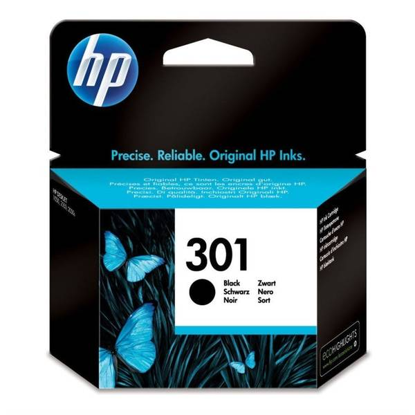 Inkoustová náplň HP No. 301, 190 stran - originální (CH561EE) černá
