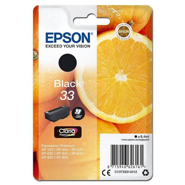 Inkoustová náplň Epson Claria Premium T33 (C13T33314012) černá