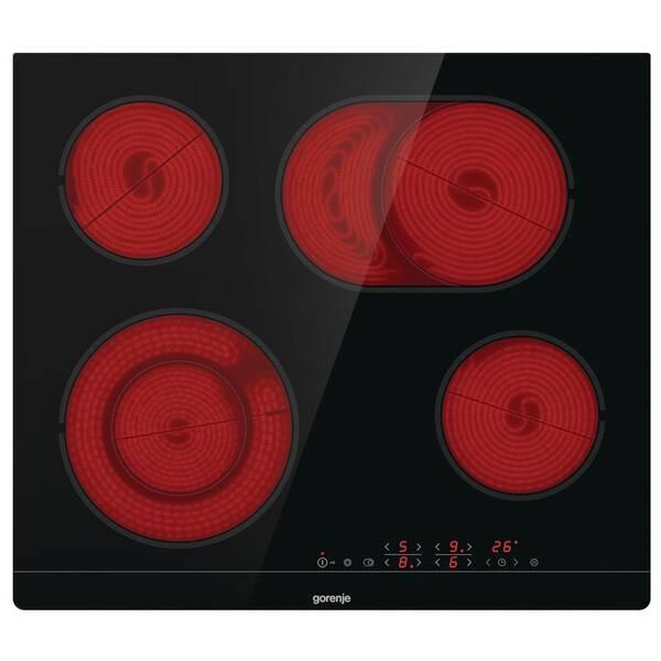 Sklokeramická varná deska Gorenje Essential CT43SC černá barva (poškozený obal 8119013448)