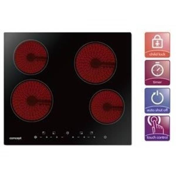 Sklokeramická varná deska Concept SDV3360n černá