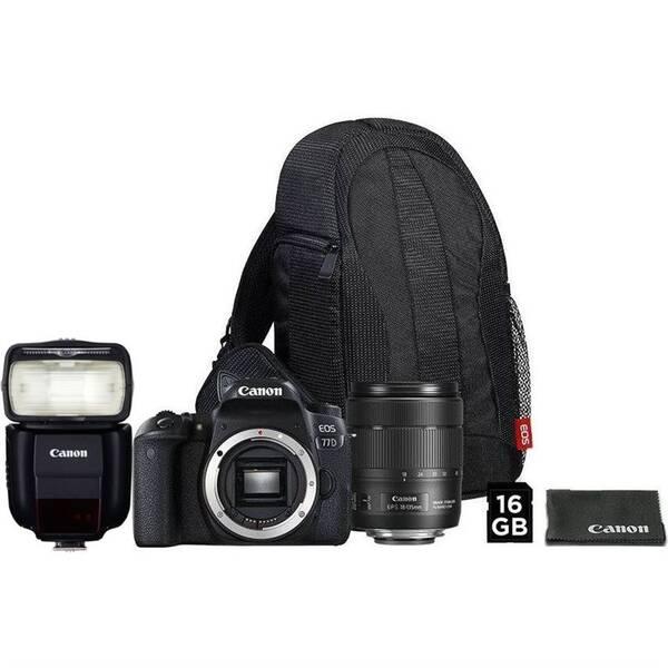 Set výrobků Canon EOS 77D + 18-135 IS USM + VUK + blesk 430EX III-RT