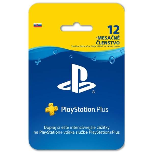Predplatená karta Sony PlayStation Plus Card 365 dní - pouze pro SK PS Store (PS719800552)