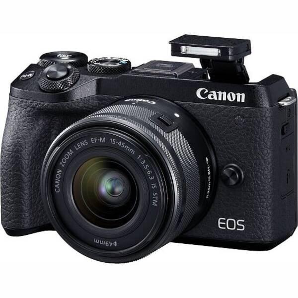 Digitální fotoaparát Canon EOS M6 MARK II + EF-M 15-45 IS STM + EVF hledáček (3611C012) černý