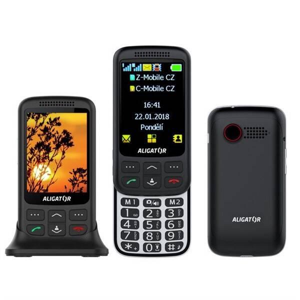 Mobilní telefon Aligator VS 900 Senior Dual SIM (AVS900BS) černý/stříbrný (vrácené zboží 8800127535)