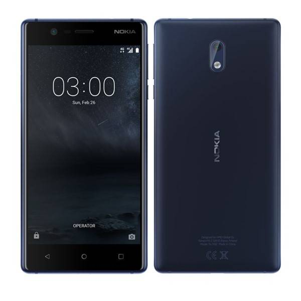 Mobilní telefon Nokia 3 Dual SIM (11NE1L01A13) modrý (Náhradní obal / Silně deformovaný obal 8800091319)