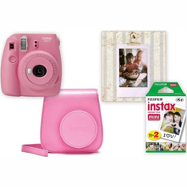 Digitální fotoaparát Fujifilm Instax mini 9 + pouzdro růžový (vrácené zboží 8800474656)