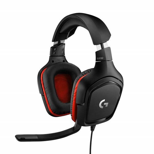 Headset Logitech Gaming G332 (981-000757) černý/červený