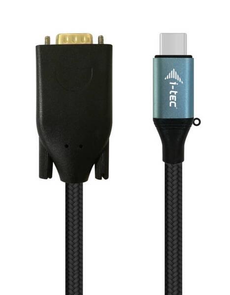 Kabel i-tec USB-C / VGA, 1,5m (C31CBLVGA60HZ) černý