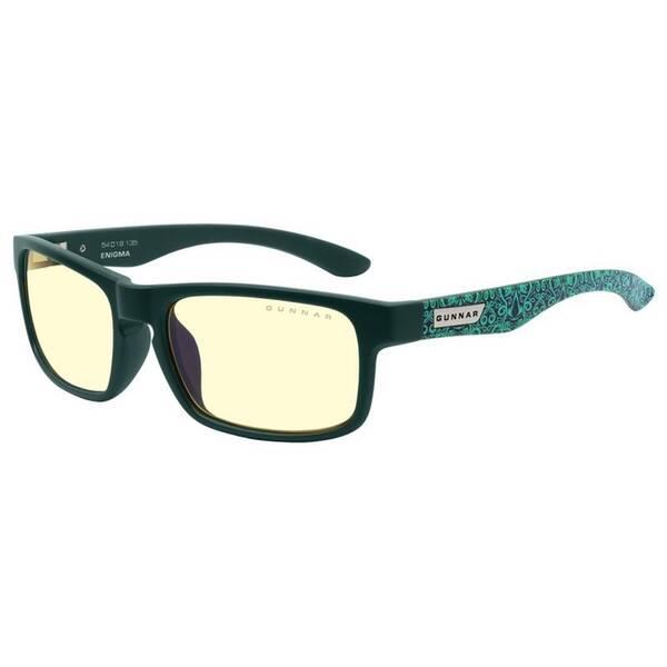 Herné okuliare GUNNAR Enigma - AC VALHALLA, jantarová skla (ENI-08401) zelené