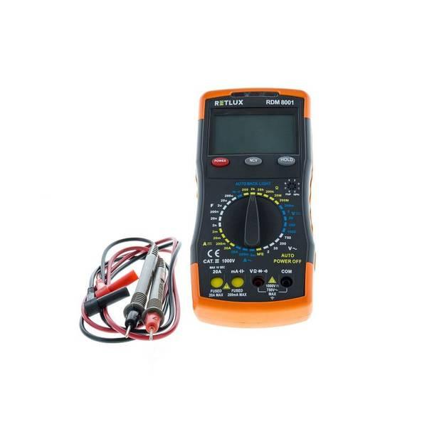 Multimetr RETLUX RDM 8001, digitálny (436690)