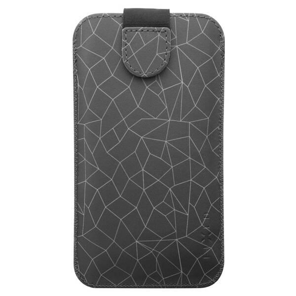 Pouzdro na mobil flipové FIXED Soft Slim, 4XL - Grey Mesh (FIXSOS-GME-4XL)