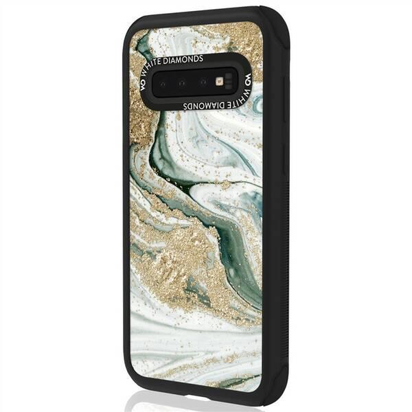 Kryt na mobil White Diamonds Tough Marble Case na Samsung Galaxy S10 (WD2830TMC97) tyrkysový