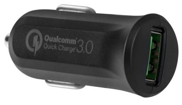 Adaptér do auta Avacom CarMAX, 1x USB (3A), s funkcí rychlonabíjení QC 3.0 (NACL-QC1X-KK) čierny
