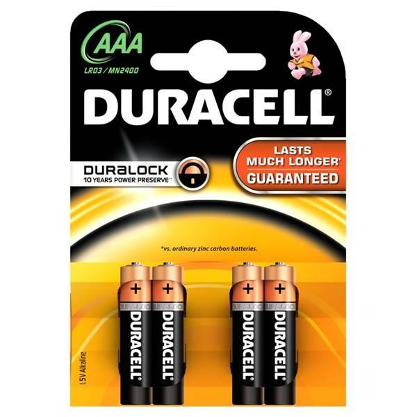 Batéria alkalická Duracell Basic AAA, 4ks