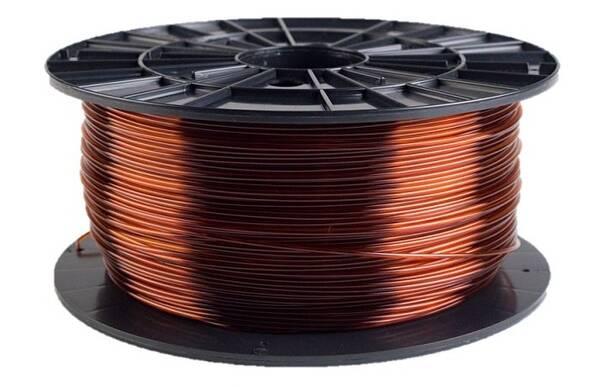 Tisková struna Filament PM 1,75 PETG, 1 kg (F175PETG_TBR) hnědá/průhledná