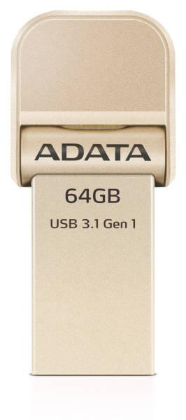 USB Flash ADATA AI920 i-Memory 64GB Lightning/USB 3.1 (AAI920-64G-CGD) zlatý
