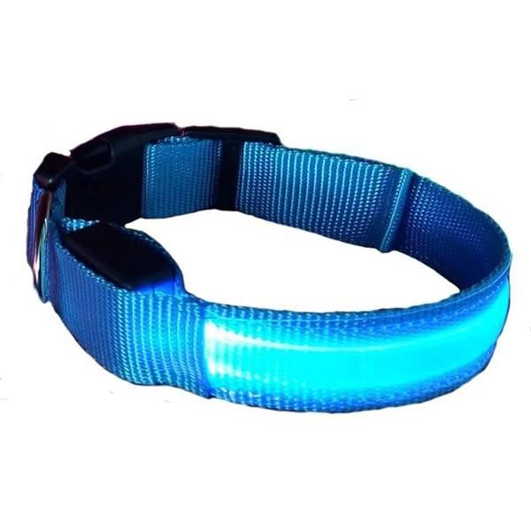 Obojek Reedog svítící Colour, M, modrá