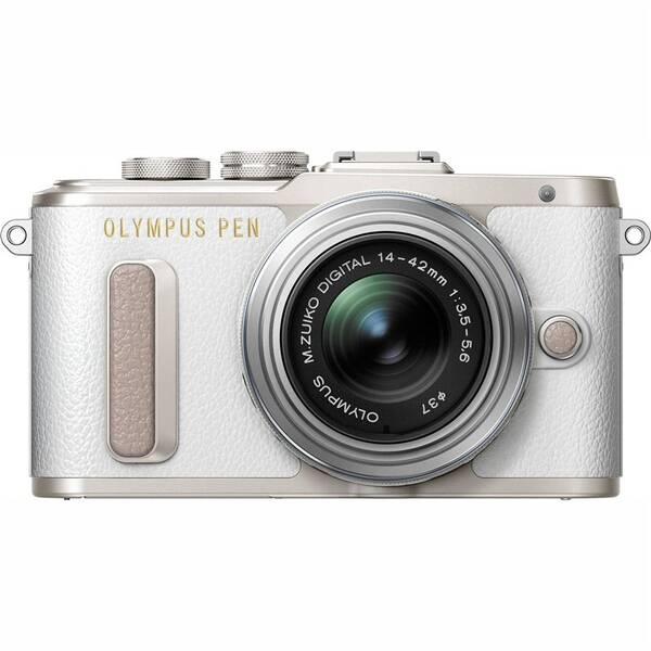 Digitální fotoaparát Olympus E-PL8 + 14-42 Kit (V205081WE000) stříbrný/bílý