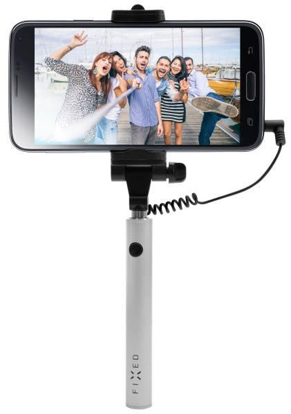 Selfie tyč FIXED Snap Mini - stříbrná (FIXSS-SNM-SL) stříbrná (vrácené zboží 8800193087)