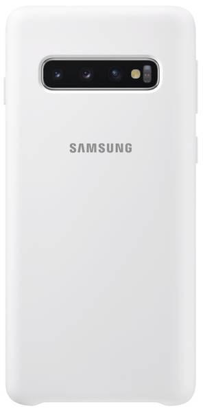 Kryt na mobil Samsung Silicon Cover pro Galaxy S10 (EF-PG973TWEGWW) biely
