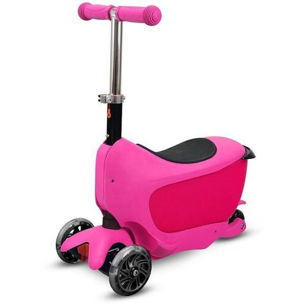 Koloběžka Buddy Toys BPC 4312 TANMAN 2v1 růžová