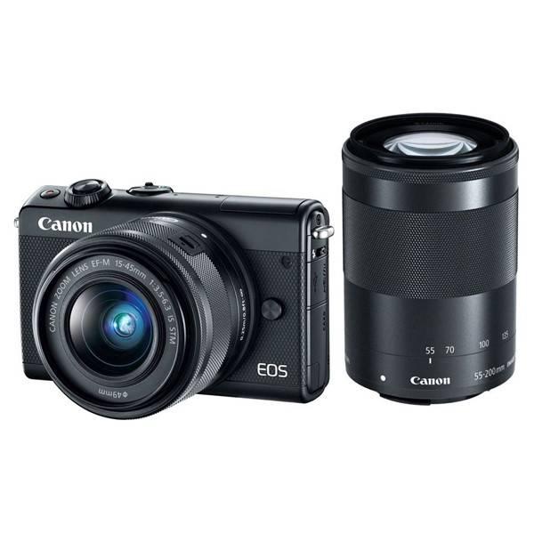Digitální fotoaparát Canon EOS M100 + EF-M 15-45 IS STM + EF-M 55-200 IS STM černý