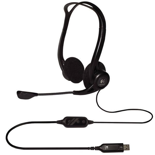 Headset Logitech 960 USB (981-000100) černý (vrácené zboží 8800107407)
