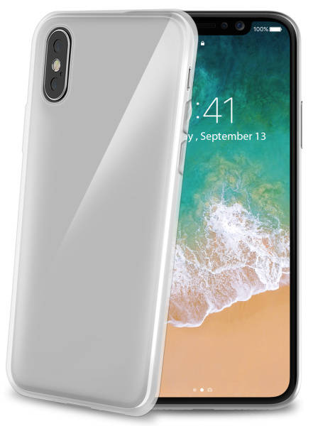 Kryt na mobil Celly Gelskin pro Apple iPhone X/Xs (GELSKIN900) priehľadný