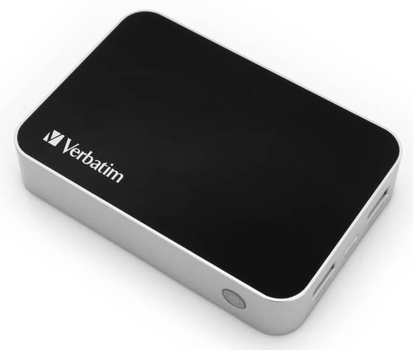 Powerbank Verbatim 10400mAh (49946) černý/hliník