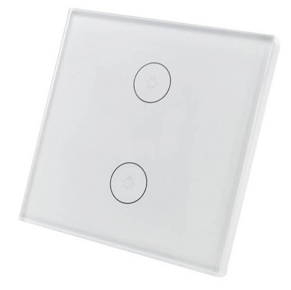 Vypínač iQtech SmartLife IQS002, Wi-Fi vypínač dvojitý (iQTS002)