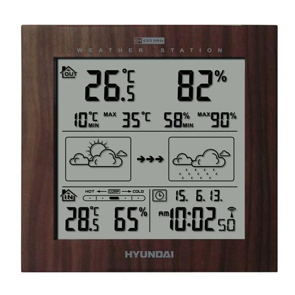 Meteorologická stanica Hyundai WS 2244 W hnedá