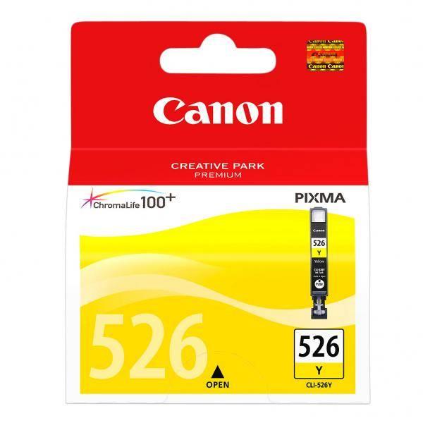 Inkoustová náplň Canon CLI-526 Y, 9ml  - originální (4543B001) žlutá