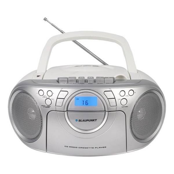 Radiomagnetofon s CD Blaupunkt BB16WH stříbrný/bílý