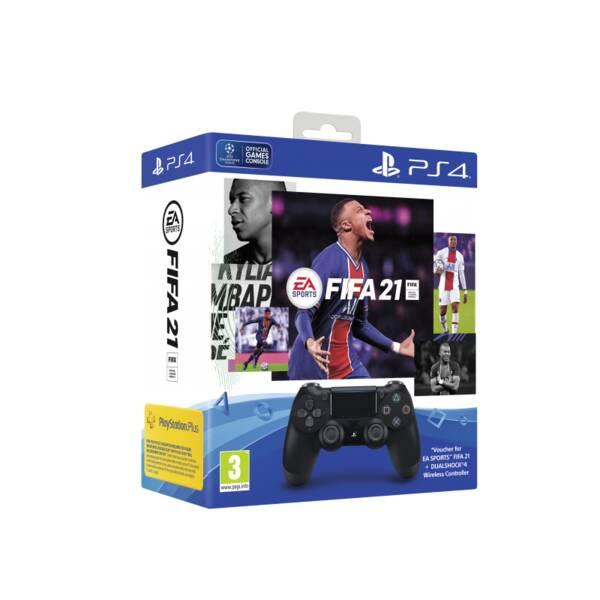 Gamepad Sony Dual Shock 4 pro PS4 v2 - černý + FIFA 21 (PS719834724)