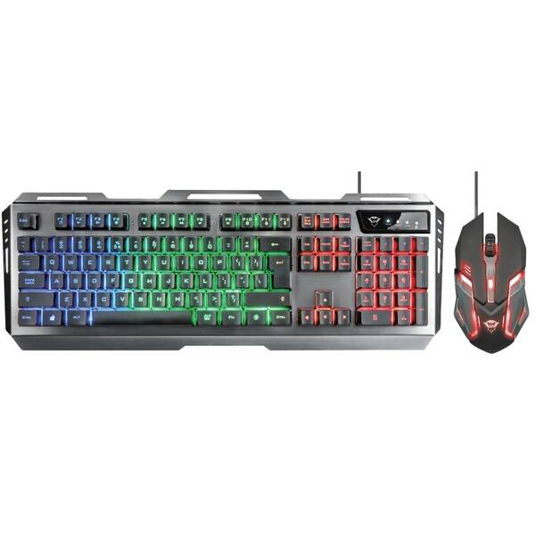 Klávesnica s myšou Trust GXT 845 Tural Gaming Combo, US (22457) čierna