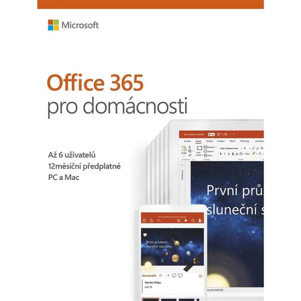 Software Microsoft Office 365 Pro domácnosti CZ - samostatně neprodejné (6GQ-00898)