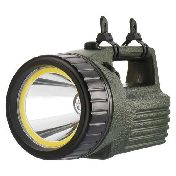 Lampáš EMOS 10W LED+COB (1433010070) čierna/zelená