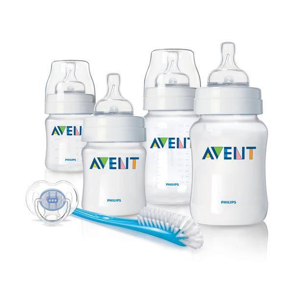 Startovací sada kojeneckých lahviček Philips AVENT PP) novorozenecká, mléčná