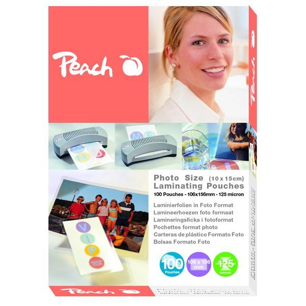 Laminovací fólie Peach foto (10x15cm), 125mic, 100pck/BAL (S-PP525-19)