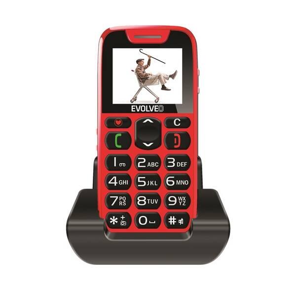 Mobilní telefon Evolveo EasyPhone EP-500 (EP-500-RED) červený (vrácené zboží 8800311620)
