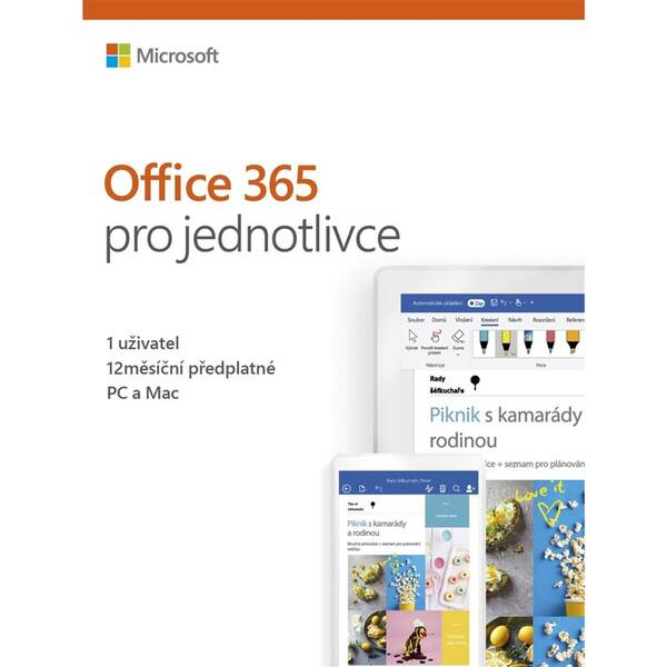Software Microsoft 365 pro jednotlivce CZ (QQ2-00742)