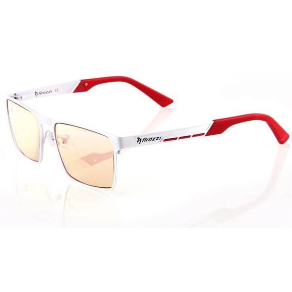 Herné okuliare Arozzi VISIONE VX-800, jantarová skla (VX800-1) biele/červené
