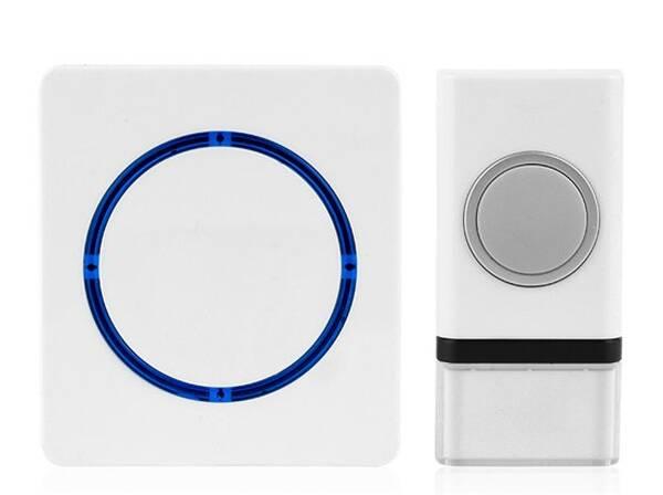Zvonek bezdrátový Solight 1L45, na baterie, 120m - bílý (1L45) (vrácené zboží 8800150127)