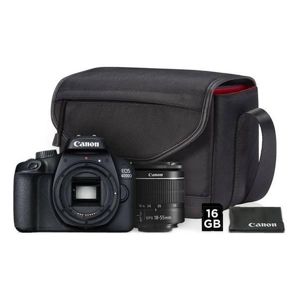 Digitální fotoaparát Canon EOS 4000D + 18-55 DC III + VUK (3011C013) černý