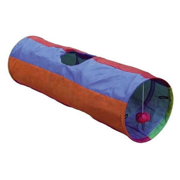 Hračka Nobby Rainbow šustivý tunel 25x86,5cm fialová/oranžová