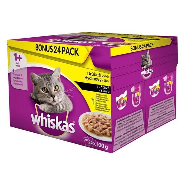Kapsička Whiskas drůbeží výběr 24pack 2400g