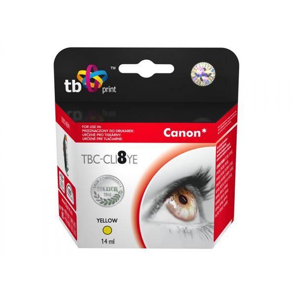 Inkoustová náplň TB Canon CLI-8Y - kompatibilní (TBC-CLI8YE) žlutá
