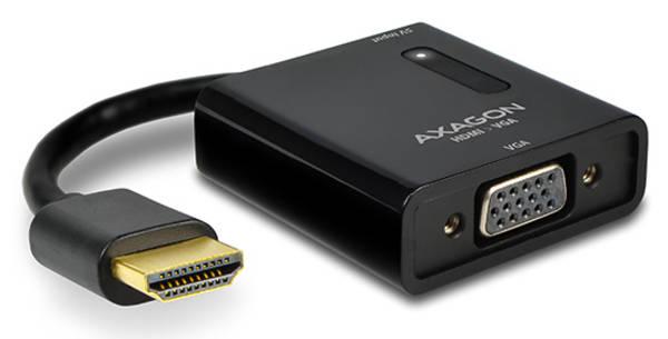 Redukcia Axagon VGA / HDMI + audio výstup (RVH-VGA) čierna