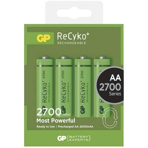 Baterie nabíjecí GP ReCyko+ AA, HR06, 2700mAh, Ni-MH, krabička 4ks (1032214130)