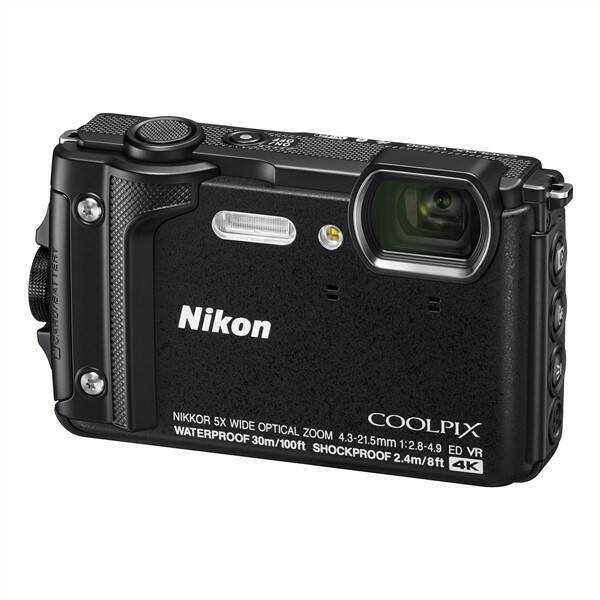 Digitálny fotoaparát Nikon Coolpix W300 + 2 v 1 plávací popruh čierny